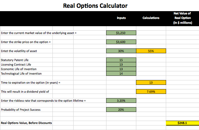 How to calculate future value of stock options